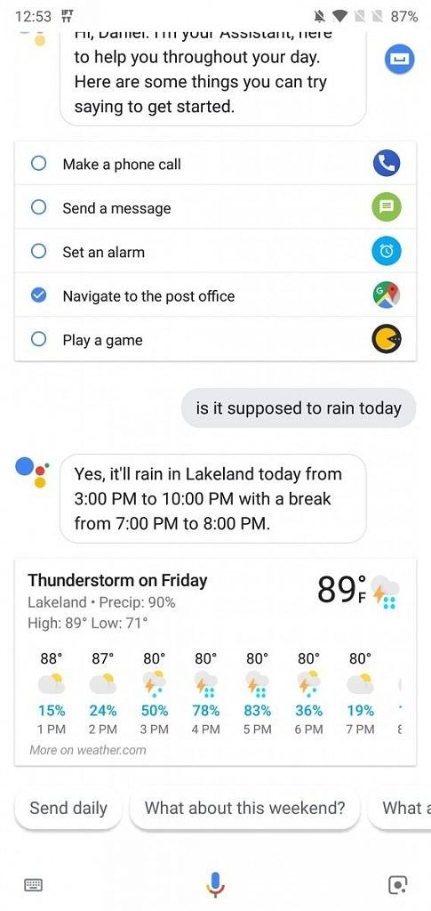 Google Assistant Weather Details on smartphones and Google Home