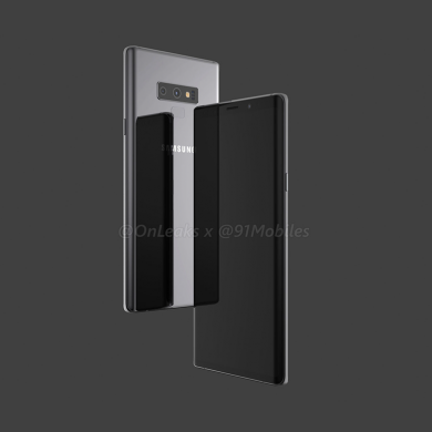 Samsung Galaxy Note 9 renders show dual rear cameras and fingerprint scanner