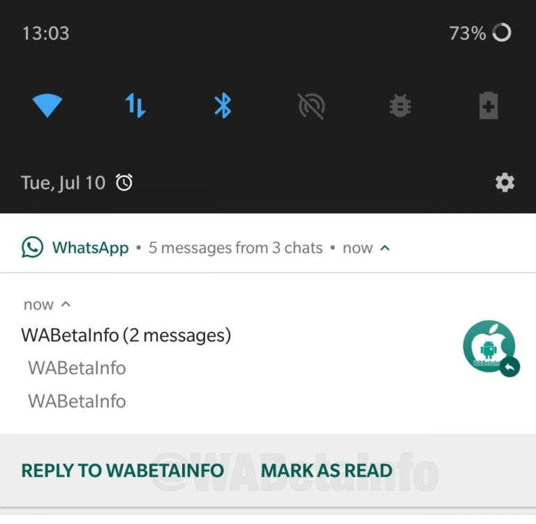 Mark as Read feature WhatsApp notifications