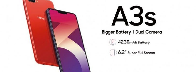 Oppo A3s is official with 4,230 mAh battery and 6.2-inch notched display